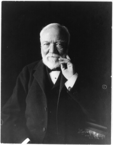 Photo of  Andrew Carnegie taken c.1913. Credit: Library of Congress.