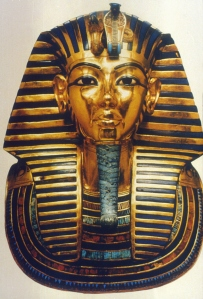 The gold mask that covered the head and shoulders of Tutankhamen for Monday's blog. Credit: © Thinkstock.
