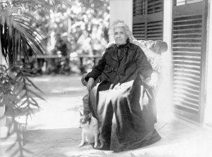 Liliuokalani, Queen of Hawaii, full-length portrait. Credit: Library of Congress