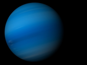 3D render the planet Neptune on a black background, high resolution. Credit: © Shutterstock