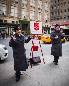Present day Salvation Army fundraisers. © Shutterstock