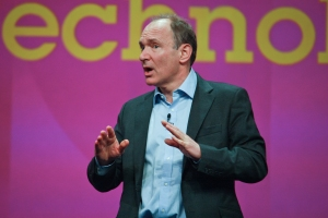 Tim Berners-Lee speaking at 2012 conference. © Shutterstock